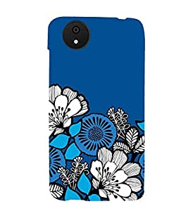 ANIMATED DUAL COLOURS FLOWERS PATTERN 3D Hard Polycarbonate Designer Back Case Cover for Micromax Android A1::Micromax Canvas A1 AQ4502