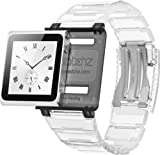 Iwatchz Apple Nano New KUBE CLEAR translucent plastic Collection + transparent plate - white - Wristband for IPOD NANO