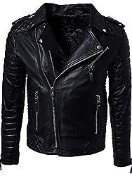 Zayn Leather Men's Leather Jacket (347_WLJ_Black_Medium)