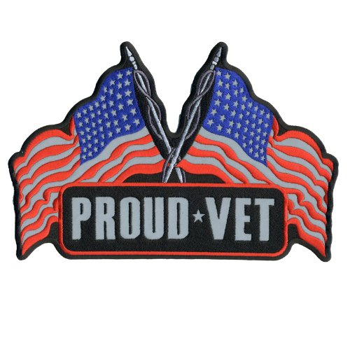 Hot Leathers Reflective Proud Vet Patch (1