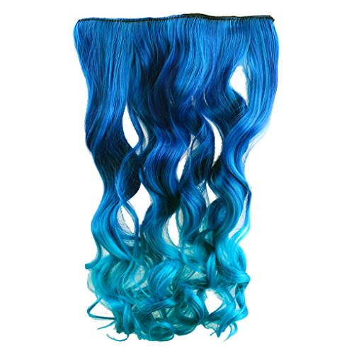 Two-Tone Hair Extensions Blue