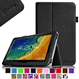 """Fintie Premium PU Leather Case Cover for 10.1"""" Android Tablet inclu. 2014 NEW iRulu 10"""" A31S/ iRulu 10.1"""" A20, iRulu X1s 10.1, Dragon Touch A1X 10.1"""" / Dragon Touch A1 10.1"""", NeuTab N10 10.1"""", Contixo Q102 10.1"""", Poofek 10.1 inch Google Android Tablet 32GB / A31S, Tagital T10 10.1"""", ProntoTec Nepro 10S 10 inch, Polatab Elite Q10.1, ValuePad VP112 10"""", Shamos New 10.1"""", Epassion E1 10.1"""", TouchTab 10.1"""", Amar 10.1"""" (PLEASE check the complete compatible tablet list under Product Description) - Black"""