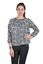 Iande Black Printed Cotton Top