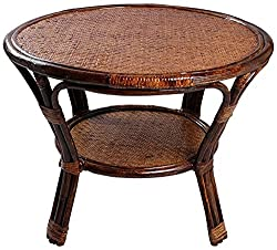 A&E Brown Table made of Rattan & Wicker