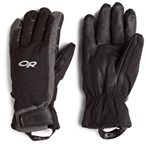 Outdoor Research Men's Extravert Gloves (Black/Charcoal, Small)