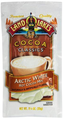 Land O Lakes Cocoa Classic Arctic White Hot Cocoa Mix, 1.25 Ounce -- 12 per case.