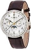 [ツェッペリン]ZEPPELIN 腕時計 ヒンデンブルク シルバー文字盤 ムーンフェイズ表示 デイデイト 70361 メンズ 【正規輸入品】