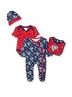 Pitter Patter Baby Gifts Conjunto (Azul Marino / Rojo)