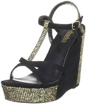 Charles by Charles David Women's Glinty Wedge Sandal,Gold Glitter,5.5 M US