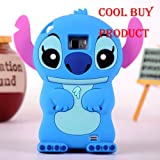 Cool Buy's Authentic BLUE Lilo and Stitch 3D Soft Case Cover For Samsung Galaxy i9100 S II -- Has One Year Warranty Only From Cool Buy