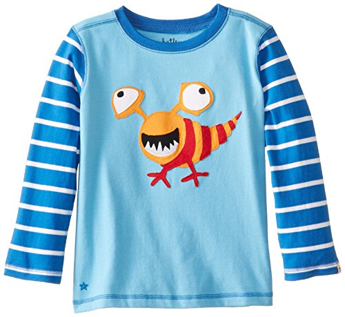 Hatley Little Boys' Long Sleeve Graphic Tee - Microscopic Creatures, Blue, 5 front-733542