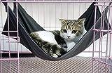 【オールシーズン使える】 ペット ハンモック 猫 小型犬 簡単設置 (ブラック S)