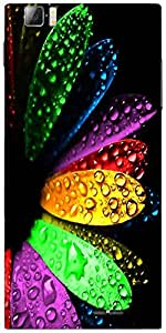 Snoogg Colorful Flowers And Water Droplets Designer Protective Back Case Cove...