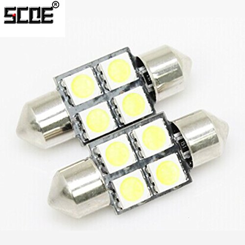 Scoe 31Mm C5W Dc12V 4Smd 5050Led Pack Of 1- White