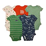 Carter's Baby Boys' 5 Pack Bodysuits (Baby) - Dinosaurs Mix 24M