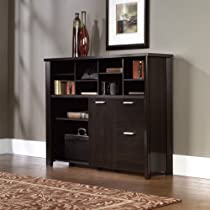 Big Sale Aspen Credenza Cubbyhole Storage Unit Wind Oak