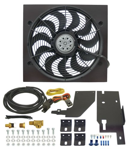 Derale 20161 Jeep Wrangler Direct Fit Electric Fan Kit (Yj Electric Fan compare prices)