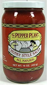 The Pepper Plant All Natural Chunky Style Salsa 16 Ounce Jar by The Pepper Plant