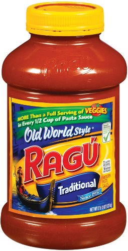 Ragu Pasta Sauce, Old World Style, Traditional, 45Ounce Bottles (Pack of 4)