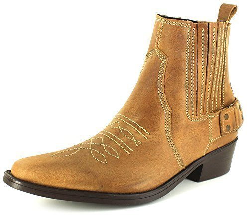 Wrangler Men's Tex Mid Ankle Cowboy Boots WM122981K 12 UK Brown
