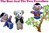Homgaty The Bear And The Two Travellers Animals Finger Puppets Story Telling Nursery Fairy Tale The Perfect Birthday, Christmas Gift