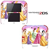 Princess Friends Sparkle Belle Rapunzel Tiana Decorative Video Game Decal Cover Skin Protector for Nintendo 2Ds