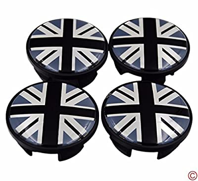 4 pices (Diameter:54mm) Union Jack UK British Flag Wheel Rim Center Hub Cap Emblem Badge Set for Mini Cooper