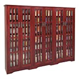CD/DVD Massive Glass Door Dark Cherry Cabinet