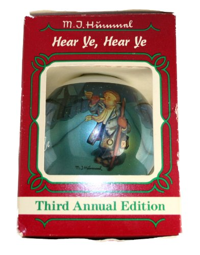 M.J. Hummel Ornament Hear Ye,Hear Ye 1985 3rd Annual The Ornament Collector's Club