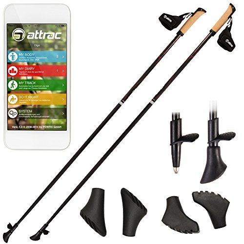 Bastoncini nordic walking in carbonio 105 - 130 cm - (120 cm)