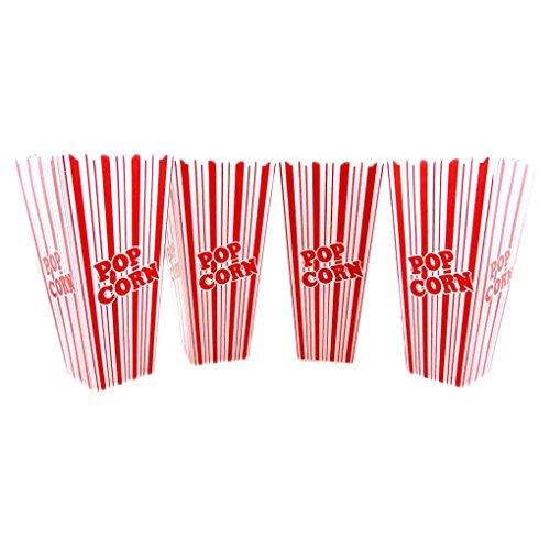 Mememall Fashion Set Large Reusable Plastic Popcorn Tub Container Movie Theater Bowl Round Square (Square Popcorn Bowl compare prices)