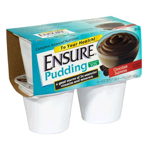 Ensure Pudding, Creamy Milk Chocolate, 4-Ounce Cups in 4-Count Packages (Pack of 12)