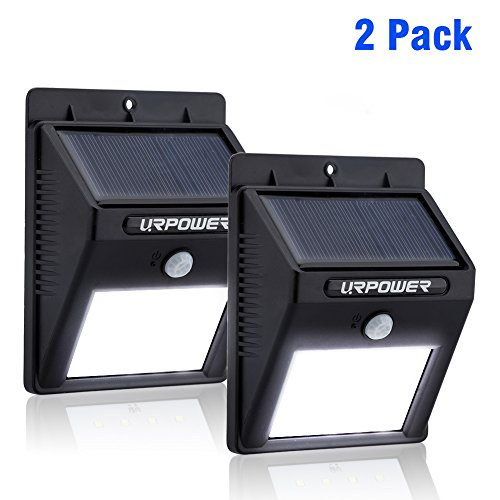 Solar Light,URPOWER® 8 LED Outdoor Solar Powerd,Wireless Waterproof Security Motion Sensor Light for Patio, Deck, Yard, Garden,Driveway,Outside Wall with 2 Modes Motion Activated Auto On/Off(2 Pack)