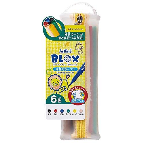 シヤチハタ BLOX 水性カラーペン 6色セット KTX-300/6W