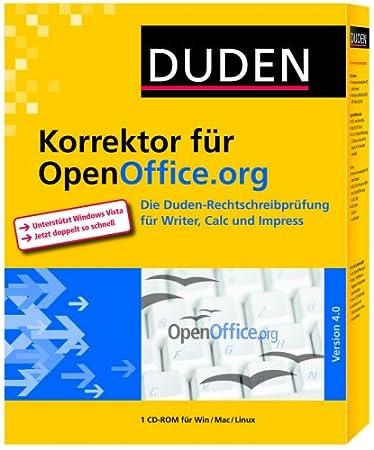 Duden Korrektor Rechtschreibprüfung für OpenOffice.org - Version 4.0