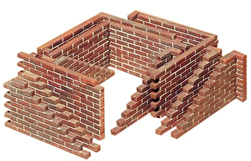 Tamiya 1/35 Brick Wall Set Kit - 1