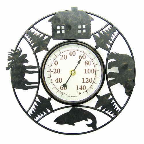 Chaney Instrument 11 Inch  Indoor/Outdoor Thermometer, Lodge