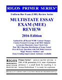 Rigos Primer Series Uniform Bar Exam (UBE) Review Series Multistate Essay Exam: 2016 Edition