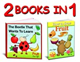 activity books - learn the fruits names and how to draw fruit step by step (activity books for kids collection)
