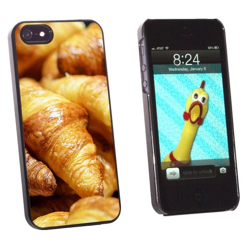 Croissants Bread - France Paris - Snap On Hard Protective Case for Apple iPhone 5 5S - Black
