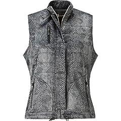 Jamie Sadock Ladies Snake Skin Full-Zip Vest by Jamie Sadock
