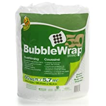 "Duck Brand Bubble Wrap Protective Packaging, 12"" x 60' (1061835)"
