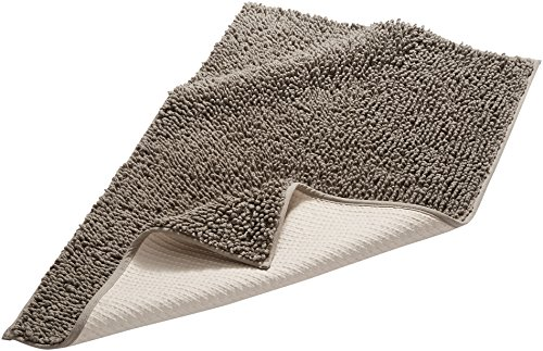 Pinzon by Amazon - Tappetino da bagno, in cotone lussuoso con lavorazione a riccio, grigio, 53 x 86 cm