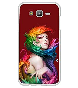 Girl with Colour Wrap 2D Hard Polycarbonate Designer Back Case Cover for Samsung Galaxy On7 G600FY :: Samsung Galaxy On 7 (2015)