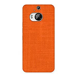 Orange Texture Squary Back Case Cover for HTC One M9 Plus