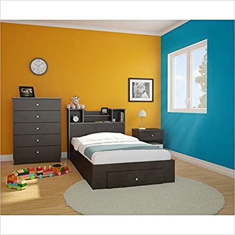 Nexera Pocono 4 Piece Twin Bedroom Set in Espresso