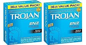 Trojan Condom ENZ OORit Lubricated, 36 Count (Pack of 2) LJDMt