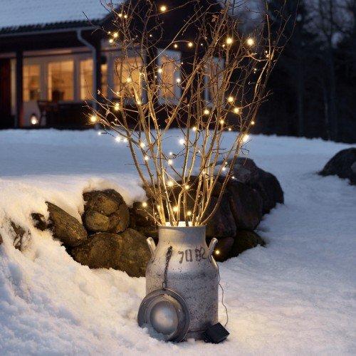 LED Micro-Lichterkette für außen, 20 Kerzen