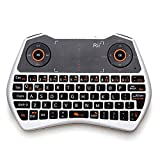 Rii Mini i28 2.4 GHz Wireless Remote Mouse Voice Keyboard for Laptop, PC, Smart TV, White (mwk28)