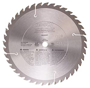 Bosch PRO1040GP 10-Inch 40 Tooth ATB General Purpose Saw Blade with 5/8-Inch Arbor at Sears.com